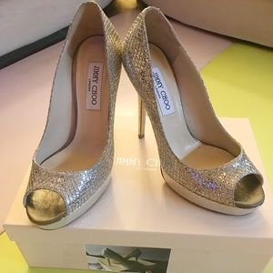 Jimmy Choo sparkling high heel shoes